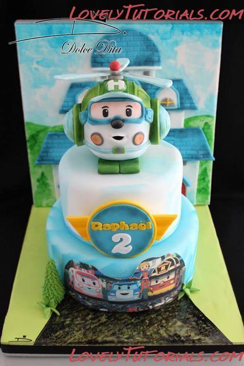 Robocar Poli cake