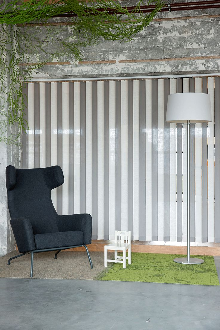 JASNO swings: vertical louver blinds with a surprising 3D effect