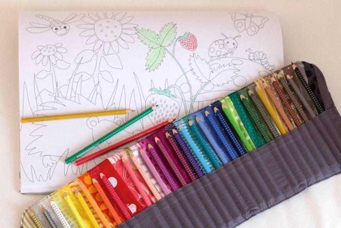Anleitung mit vielen tollen Bildern, wie man eine Stiftrolle näht. Freebie zu Weihnachten