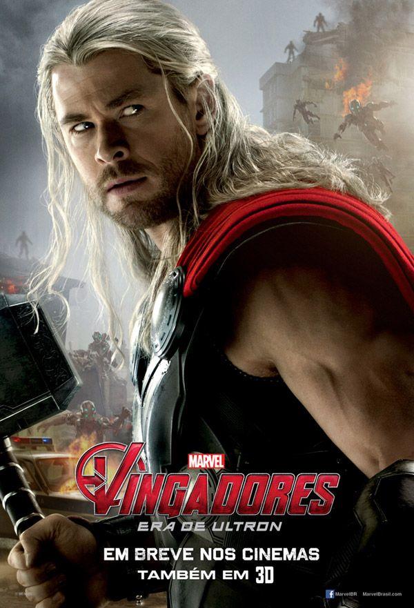Vingadores: Era de Ultron, Posters Individuais do elenco principal do filme.