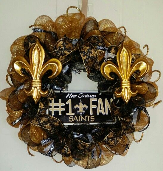 New orleans saints wreath made by me ...
