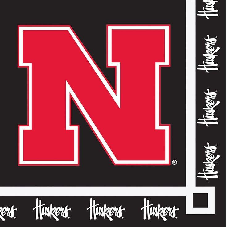 20 Pack Beverage Napkins Nebraska Huskers - Multi