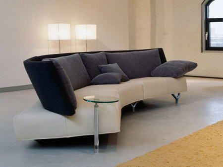 large round curved sofa sectional | curved sofa