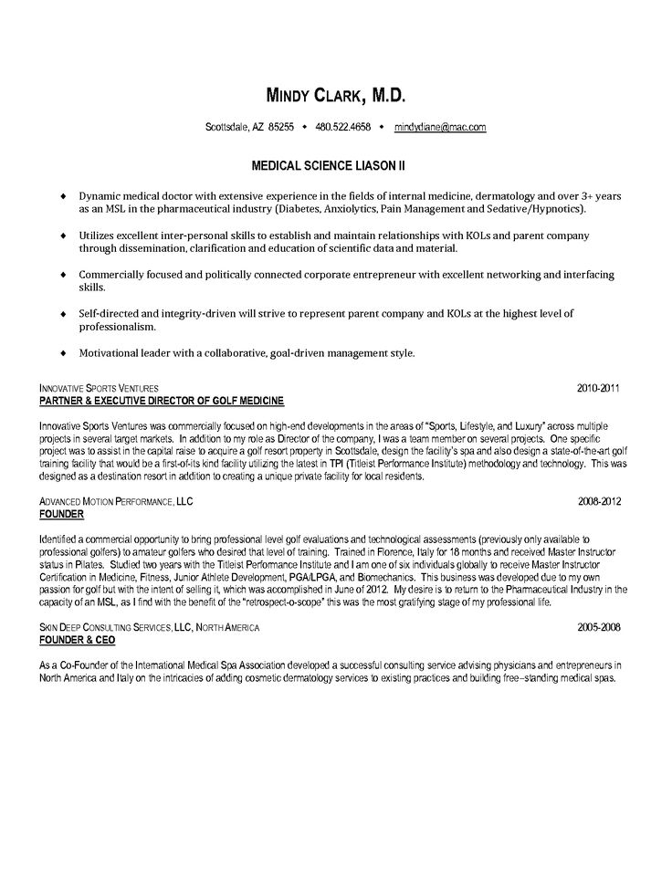 resume cover letter sample medical science liaison