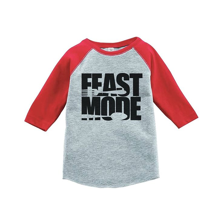 Custom Party Shop Baby's Feast Mode Thanksgiving Red Raglan