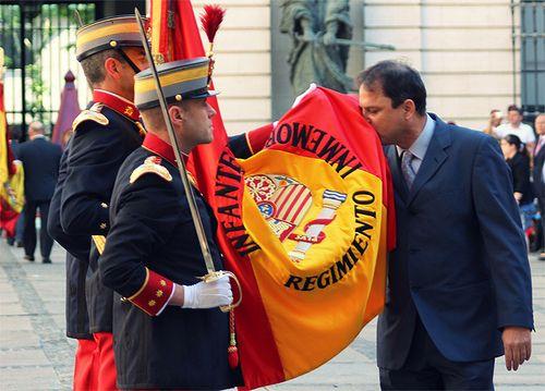 Jura de Bandera para civiles en el Cuartel General del Ejército