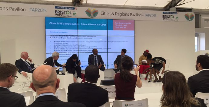 Notes from COP 21: urban challenges and insights  | We are a strategy partner with 100 Resilient Cities, working alongside the chief resilience officers and their teams to help develop resilience strategies in 15 cities around the world.