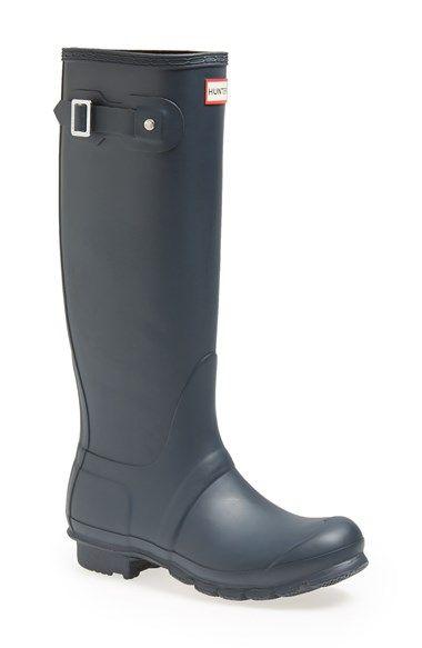 Hunter 'Original Tall' Rain Boot (Women)   Nordstrom Size 6 navy matte