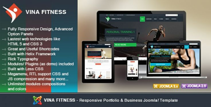 Vina Fitness is a Responsive Joomla! Template suitable for Health Clubs, Sport Clubs Gyms and Trainers. It is cross browser compatible, mobile ready so it will look great on smart phones, tablets aswell as laptops and desktop displays. It comes with three presets, unlimited color styles and including the amazing Joomla Article Scroller and iView Slider. More details: http://thecoders.vn/joomla-templates/item/152-vina-fitness-health-sport-gyms-and-trainers-joomla-template.html