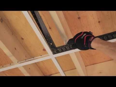 RONA - Comment poser un plafond suspendu - YouTube