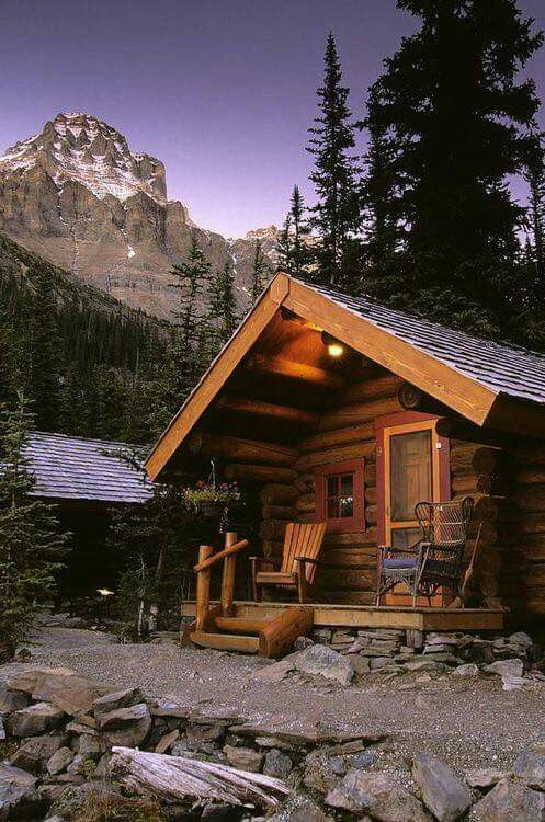 Cabin below the Mountains