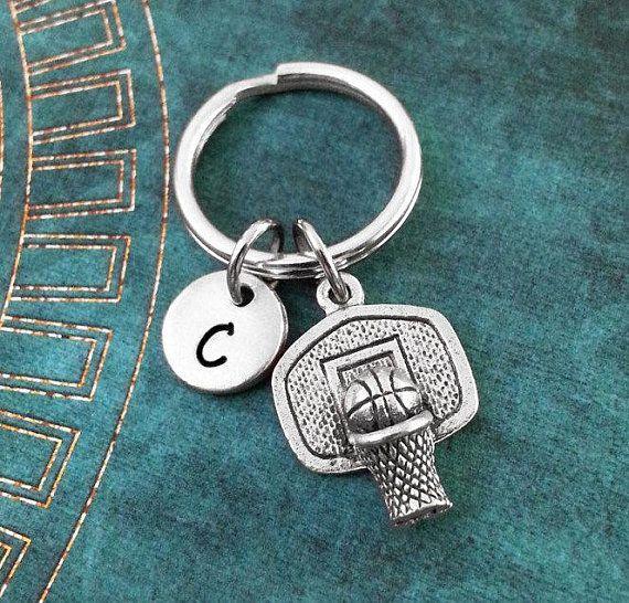 Basketball Keychain SMALL Basketball Hoop Keychain Basketball Keyring Boyfriend Gift Boyfriend Keych