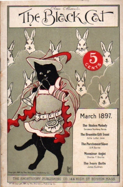 """The Black Cat"" magazine cover - March 1897"