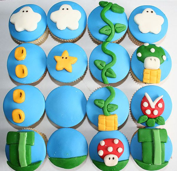 Ideas, Marshmallows Fondant, Super Mario Cupcakes, Super Mario Brother, Mario Parties, Mariobros, Super Mario Bros, Cupcakes Rosa-Choqu, Mario Birthday Parties