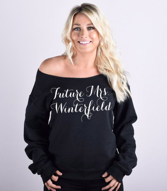 Future Mrs Script Font Sweatshirt. Slouchy by BrideAndEntourage