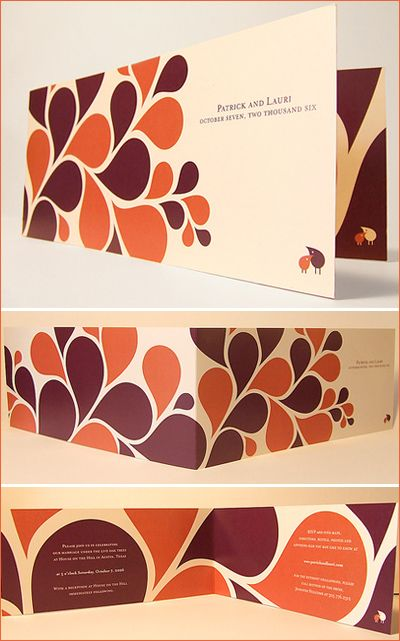 modern autumn invitations
