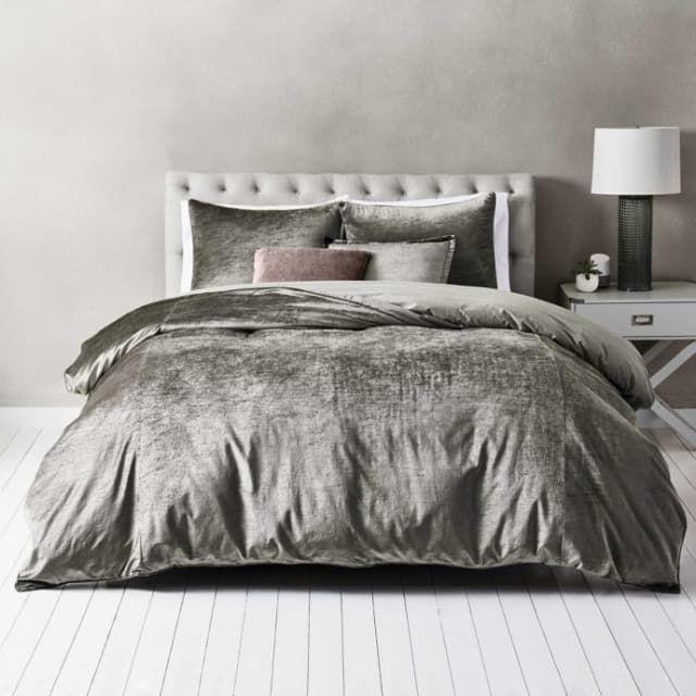 Velvet Is The Secret To Adding Extra Warmth To Your Home This Winter Duvet Cover Master Bedroom Velvet Duvet Bed Linens Luxury