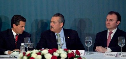 Peña, Beltrones y Videgaray. Presuntos sobornos a diputados. Foto: Miguel Dimayuga