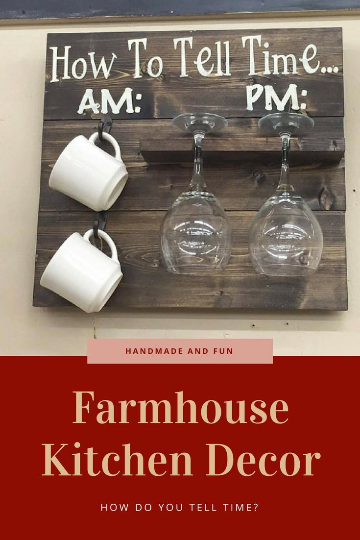 How To Tell Time Rustic Kitchen Pallet Sign Very Fun Affiliate Homedecor Kitchendecor Wine Coffee Pallets Si Wine Signs Coffee Signs Wine Glass Holder
