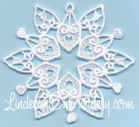 Free Embroidery Design: Sandy Hook Memorial Snowflake - I Sew Free