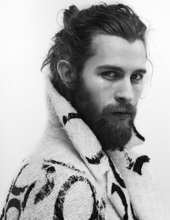 Men Hairstyles Top Knot 2015