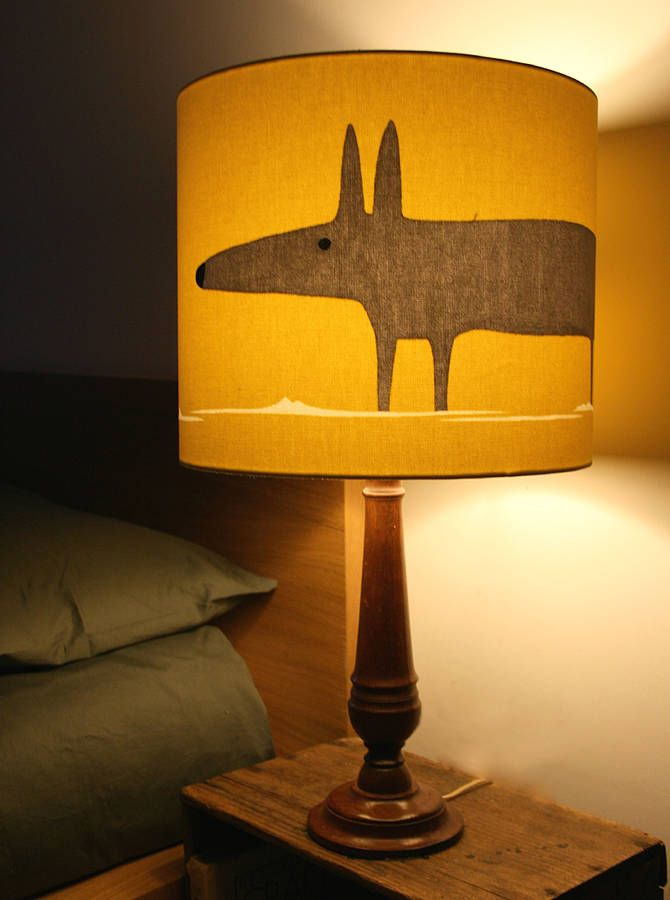 Mr Fox lampshade to go with nursery wallpaper £50 NOTHS