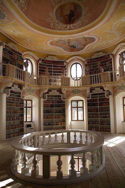 Library at Neuschwanstein Castle, Germany
