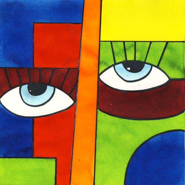 abstraktes gesicht abstrakt bilder malen einfach abstrakte malerei kunst modern acryl