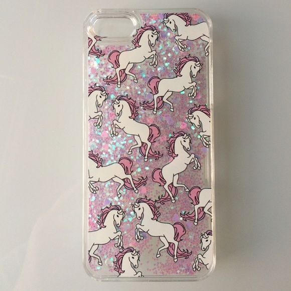 """Unicorn Glitter IPhone 6 Plus /6S Plus Case Awesome phone case comes with glitter and hearts that moves around in water. Case will add about .25"""" to the back of the phone. Kawaii Accessories Phone Cases"""