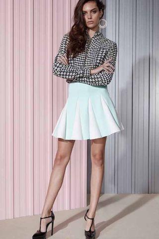Shakuhachi Foam Mint Pleated Skirt – Eclectic Ladyland