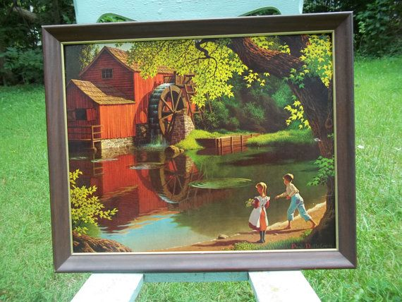 Paul Detlefsen Framed Old Mill Stream by mementocollectables
