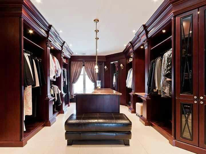46 best Men's luxury closets images on Pinterest | Walk in ...