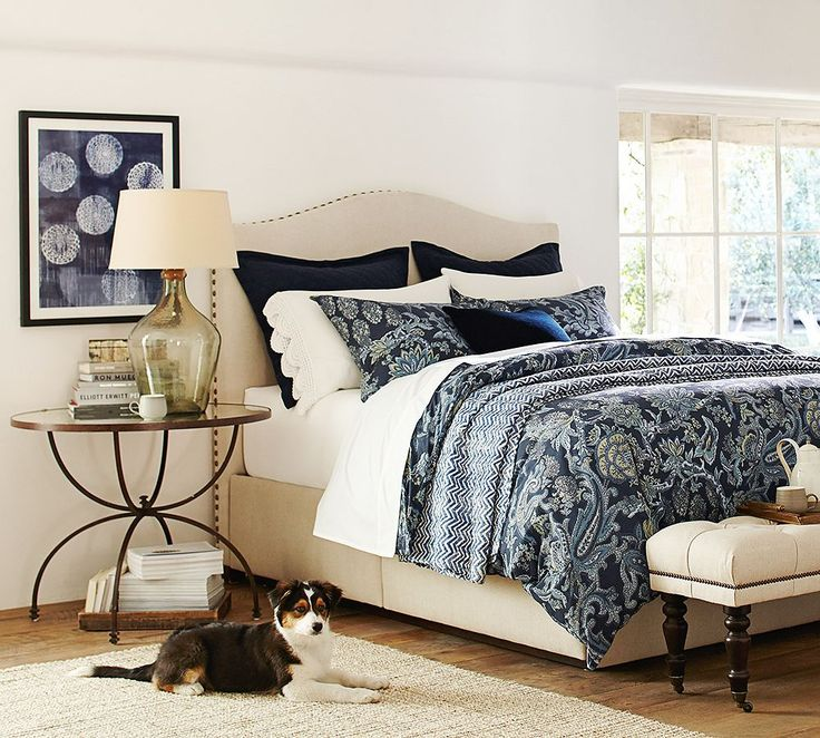 Deep blues for the bedroom.