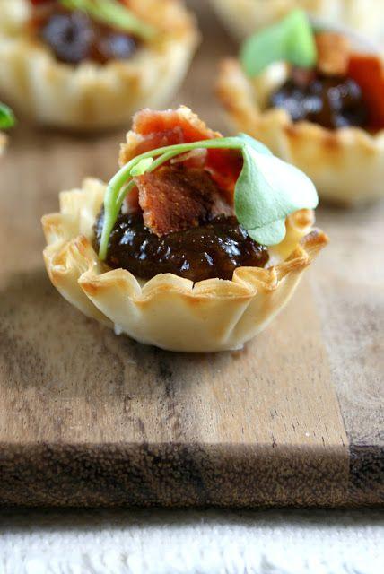 Authentic Suburban Gourmet: Brie, Bacon and Fig Jam Tarts | Secret Recipe Club