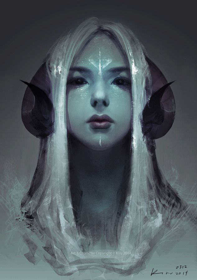 elven priestess of dark realm...