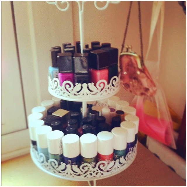 Cute nail polish storage!