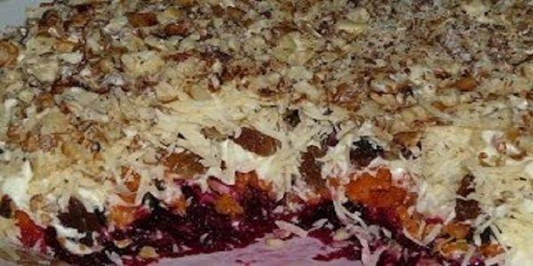 Очень вкусный слоеный салат «Магдалена» | NashaKuhnia.Ru