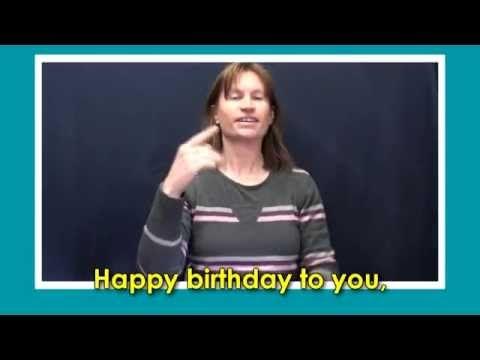 Happy Birthday in Australian Sign Language - YouTube