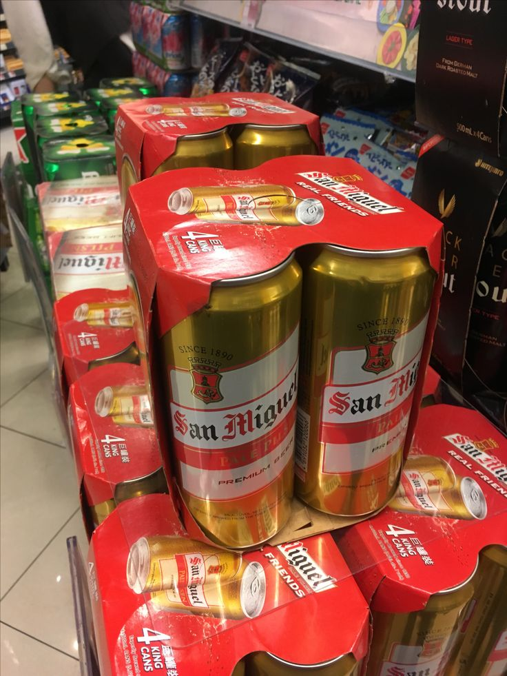 San Miguel Beer in king cans found in Hong Kong