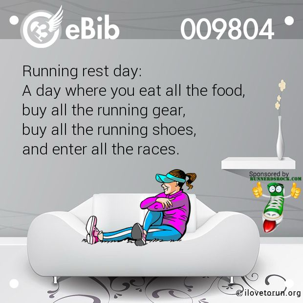 Image result for rest day no running when sick