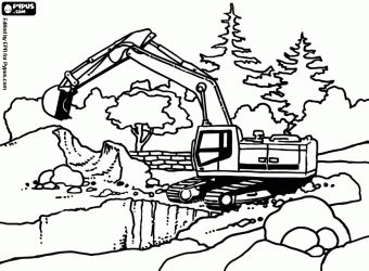 Excavator Coloring Pages Construction Vehicles Coloring Pages - Construction-coloring-pages