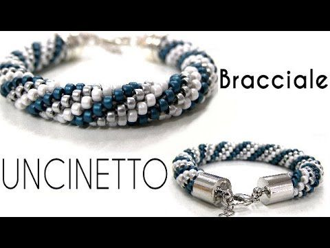 Come creare un bracciale con perline all'uncinetto - Spirale a crochet - YouTube