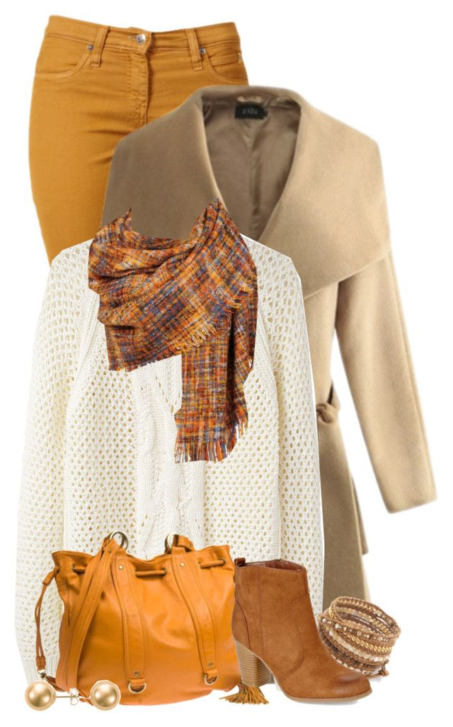 """Winter Mustard Jeans Outfit"" by superstylist ❤ liked on Polyvore featuring…"