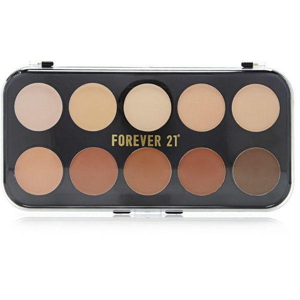 Forever 21 Contouring Concealer Palette ($8.90) ❤ liked on Polyvore featuring beauty products, makeup, face makeup, concealer, highlighting concealer, palette concealer, dark circle concealer and forever 21