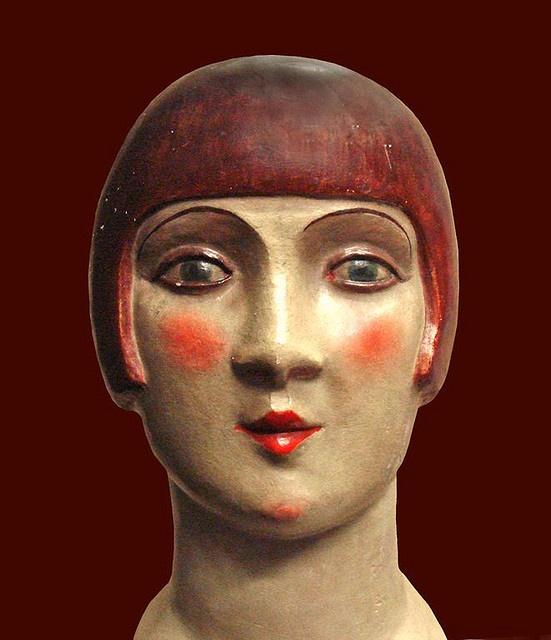 Tête de femme, la garçonne (vers 1925)