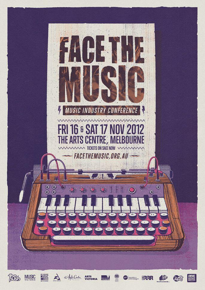 #andrewfairclough #facethemusic #poster #print