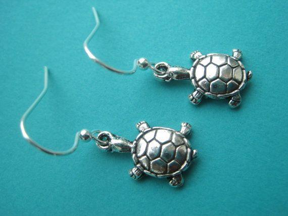 Sea Turtle Earrings  Sea Turtle Jewelry  Turtle Earring