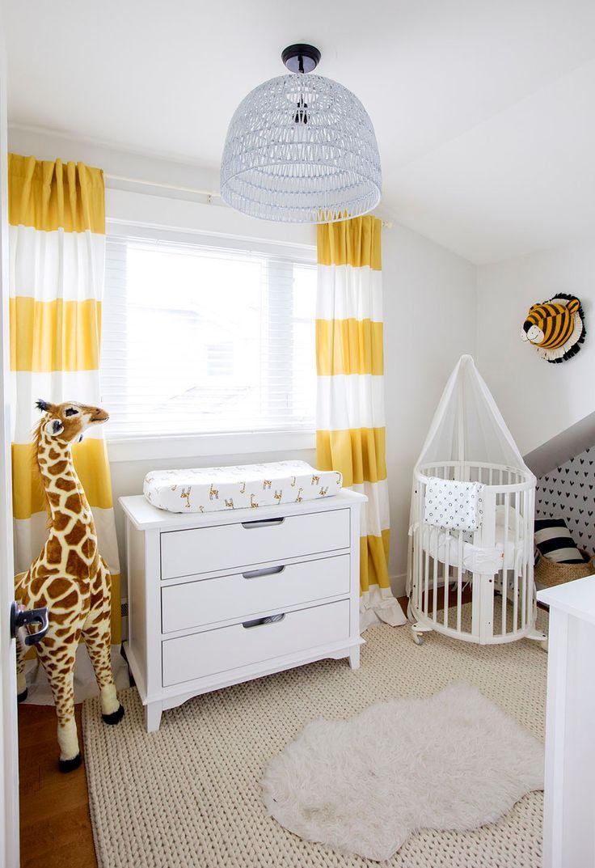 best nursery  nesting inspiration images on pinterest  - jillian harris's son's minimalist nursery featuring the stokke sleepi minicrib
