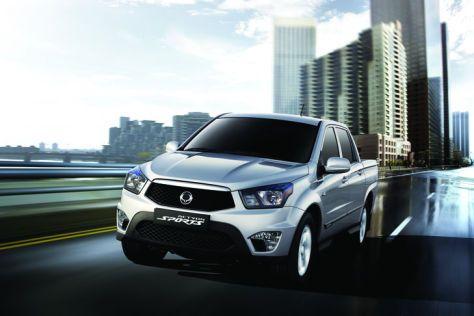 SsangYong Actyon Sports: Ein neuer Pickup von den Koreanern. Mal sehen ob der sich besser verkauft als der Korando, der es am deutschen Markt dank seines hohen Preises sehr schwer hat...