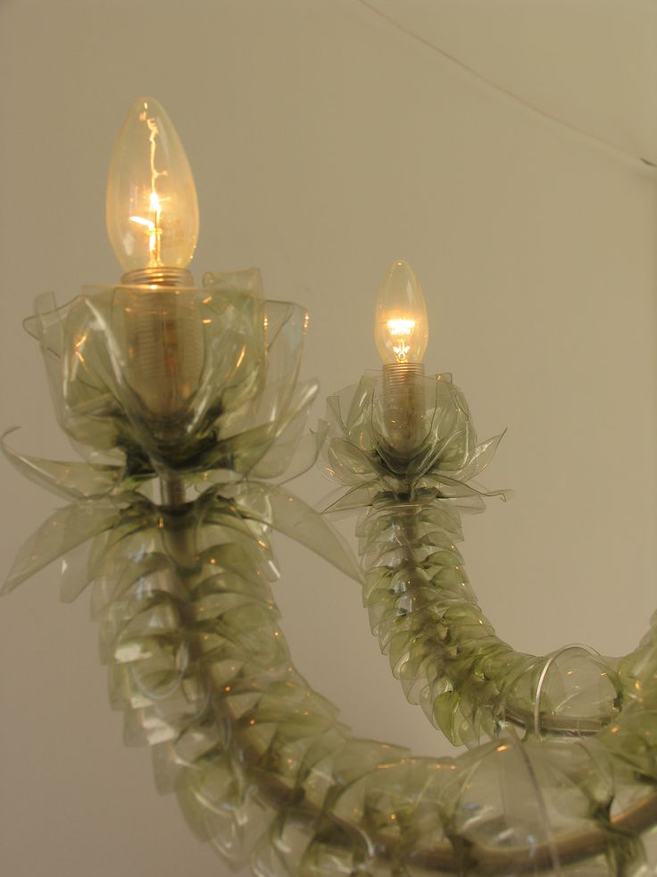10 images about upcycled chandeliers wind chimes on for Candle decoration with waste material